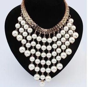 Fashion Beads Gold Chocker Collar Necklace